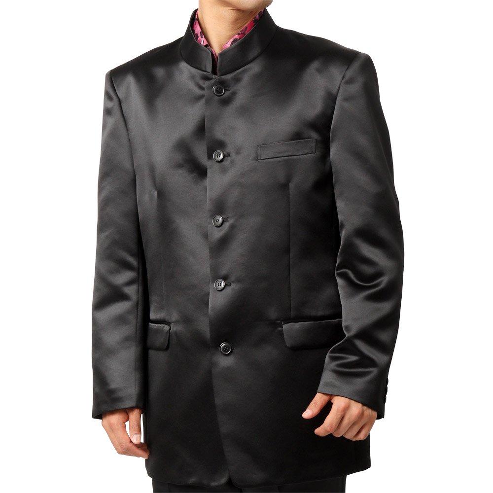サテン マオカラージャケット 男女兼用 衣装|カラー:ブラック