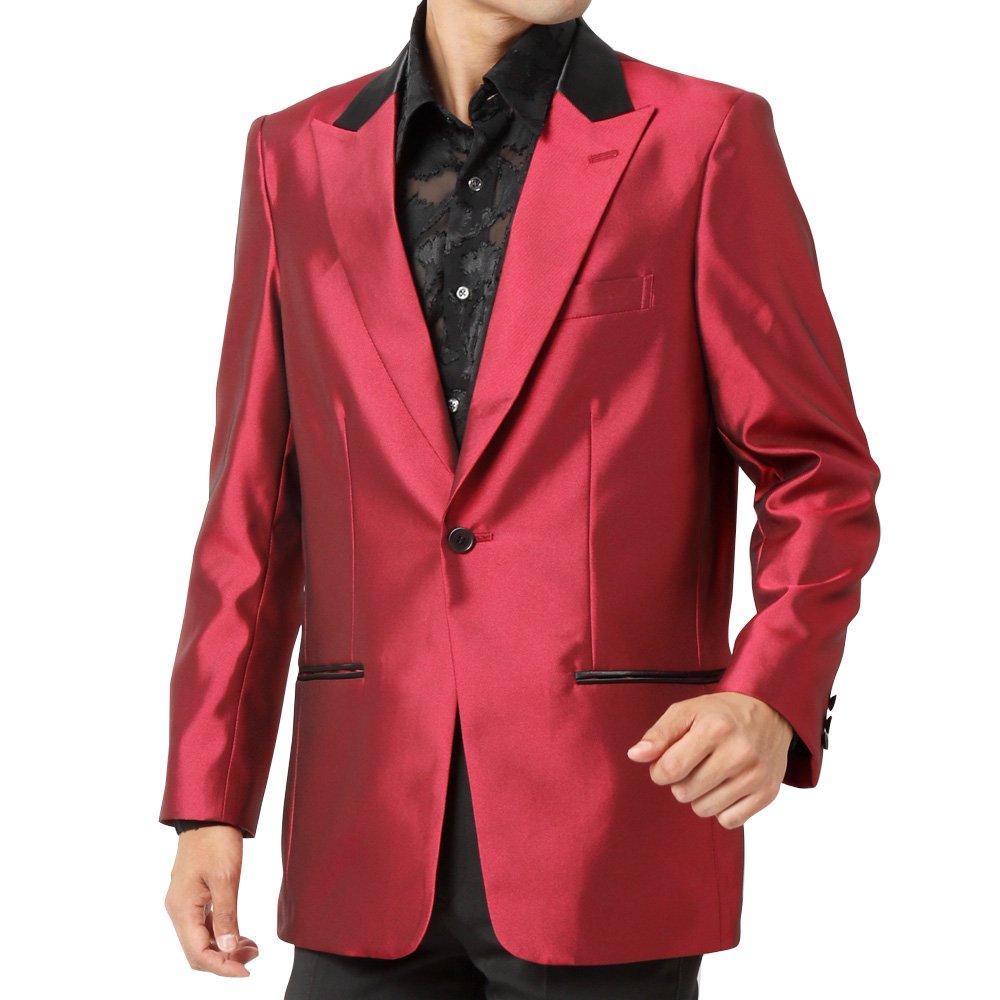 衿切り替え 1つボタン テーラード ジャケット 男女兼用 衣装|カラー:ワイン