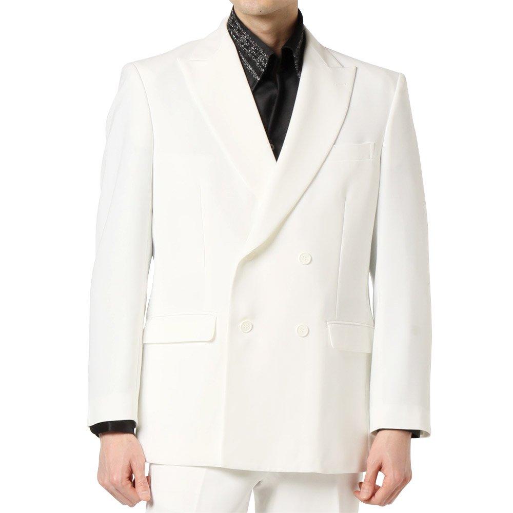 4つボタン ダブルテーラードジャケット 男女兼用 衣装|カラー:ホワイト