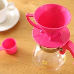 KONO式ドリップセット 2人用 ピンク