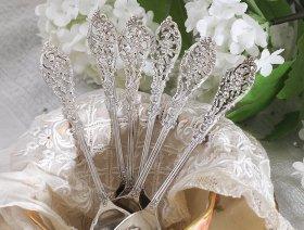 【純銀】1902年 美装飾ティースプーン William Comyns