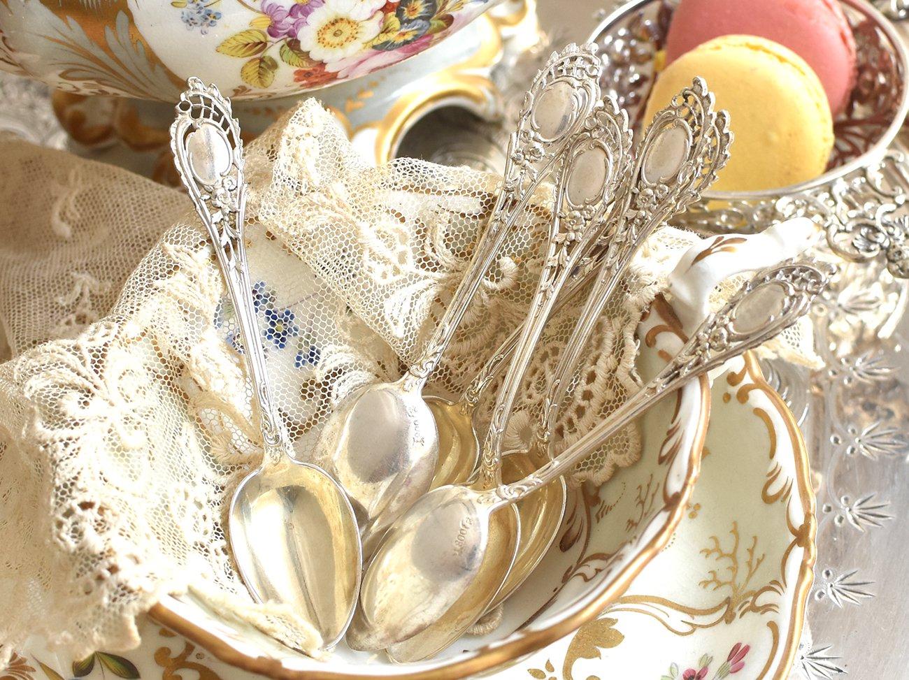 【ドイツ銀800】ティースプーン6本セット