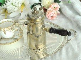 仏アンティーク銀器【純銀950】c.1880 チョコレートポット L.Lapar