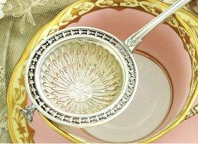 フランス銀器【純銀950】ティーストレーナー  ピュイフォルカ <MD有>