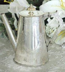 ◆シルバープレート◆美彫◆コーヒーポット◆エルキントン