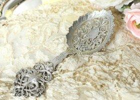 英国アンティークシルバー【純銀】1900年 透かしのスプーン Goldsmiths&Silversmiths Company