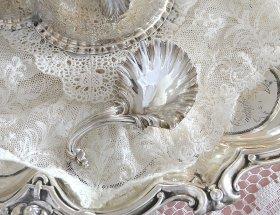 英国アンティーク銀器【純銀】1893年 キャディースプーン