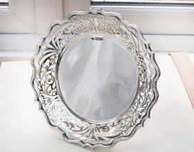 英国アンティーク銀器【純銀】1905年 Tazza コンポート 中サイズ