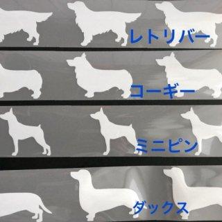 反射材アイロンプリントM(シュナ、レトリバー、コーギー、ダックス、ミニピン、ポメ、パピヨン、柴犬、コリー系、プードル)