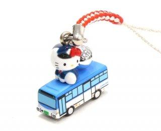 市バス × ハローキティ 根付(赤色紐/水色紐)(川崎市交通局)