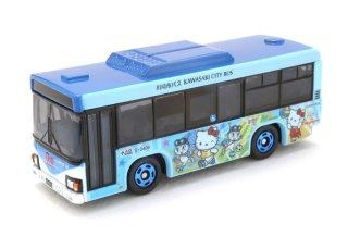 かわさきノルフィン × ハローキティ コラボラッピングトミカ(水色)(川崎市交通局)