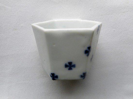 百々堂 磁器染付六角酒杯(B)
