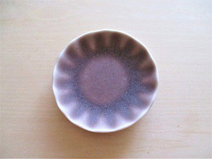 佐々木綾子(AYAKO SASAKI porcelain)豆皿 花(あずき色)