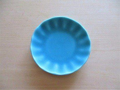 佐々木綾子(AYAKO SASAKI porcelain)豆皿 花(ターコイズ)