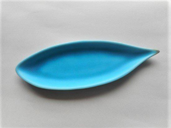 佐々木綾子(AYAKO SASAKI porcelain)leaf#4(ターコイズ)
