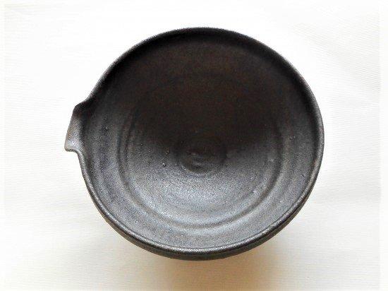 信楽焼 鉄錆片口鉢