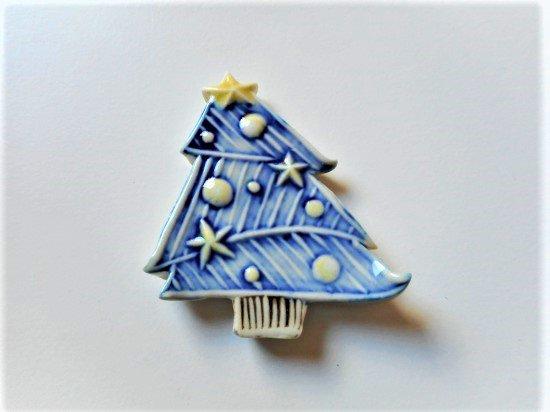 TOMI-kobo クリスマスツリーの箸置き(青�2)