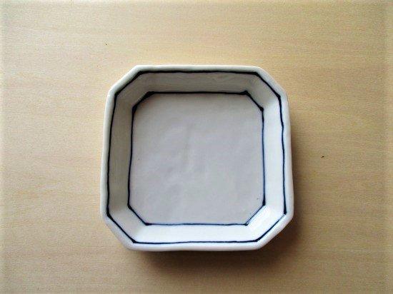 百々堂磁器製造所 磁器染付角小皿(Eーイ)