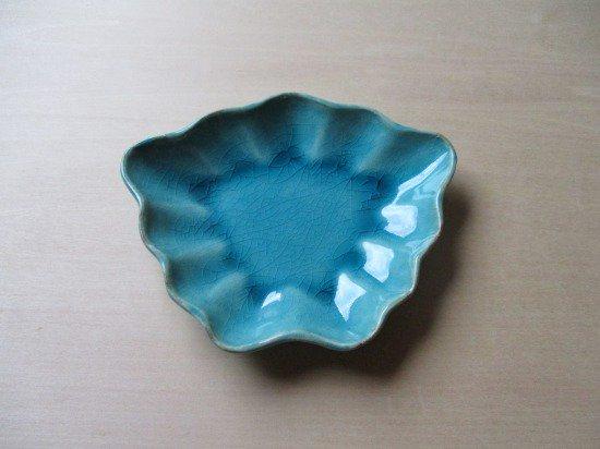 山本たろう(魚雲窯) ちょうちょ豆皿 (陶器・トルコ)