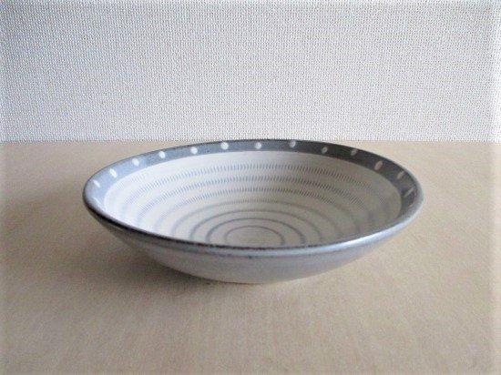 小石原焼 上鶴窯  浅鉢  (ドット&飛びカンナ)