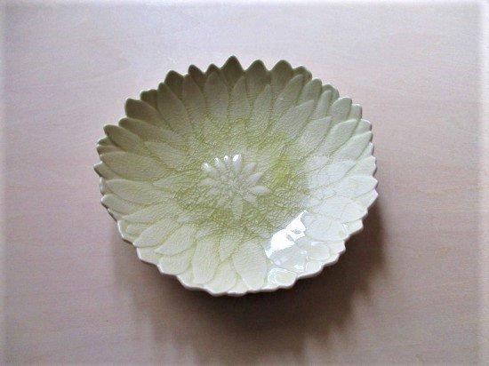 瀬戸焼 ダリア皿 (きはだ色)