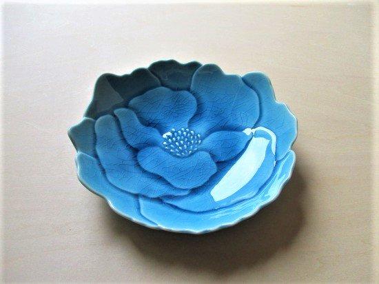 瀬戸焼 ボタン皿 (あさぎ色)