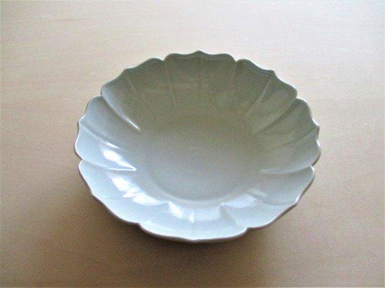 山本たろう(魚雲窯) 白磁輪花鉢