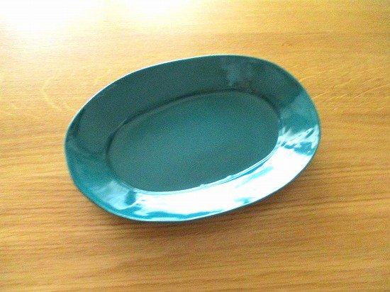 長浜由起子(やぶから房)作 オーバル皿(黒マット)