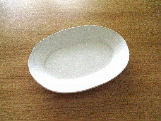 長浜由起子(やぶから房)作 オーバル皿(ホワイト)