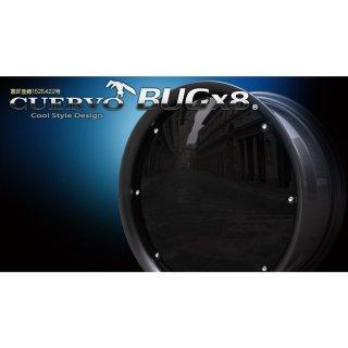 送料無料タイヤ ホイール 4本セットCUERVO BUGx8 クエルボバグエイト ハイエース用 16x6.5J+38 6H-139.7  ガンメタ×ブラック