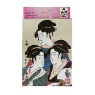 浮世絵シリーズ 歌麿ライン 金+桜 エッセンスマスク(10枚入り)