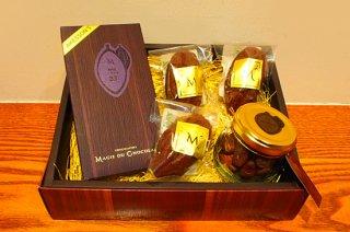 モンドチョコレートと焼き菓子とカカオ豆の5個セット
