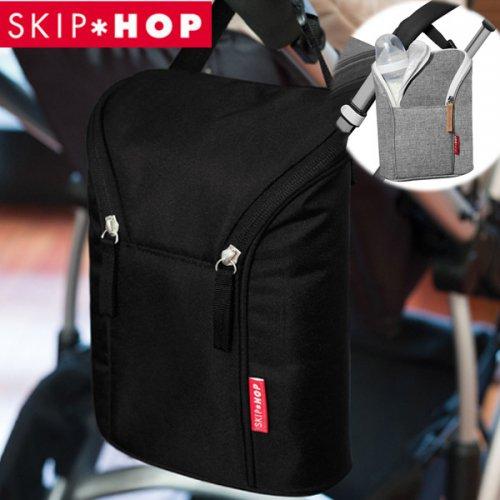 【送料無料】SKIP HOP スキップホップ ダブルボトル・バッグ ブラック/グレー