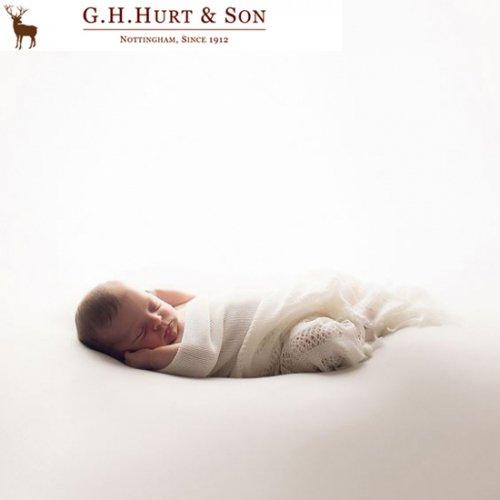 G.H.HURT&SON ジーエイチ ハートアンドサン ノッティンガムレースショール