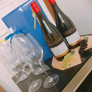 ギフトにも最適!紅白ワインセット シェフ&ソムリエ製 大きいグラス2脚付き