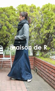 17-10 denim maxi skirt (セレクトアイテム)