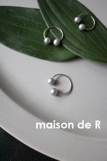 18-01 gray twin pearl ring