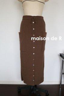 19-07・ボタンコットンタイトスカート