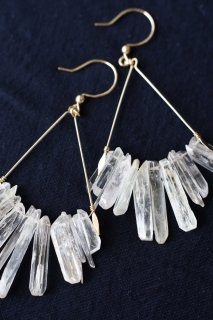 Kunzite chandelier earrings