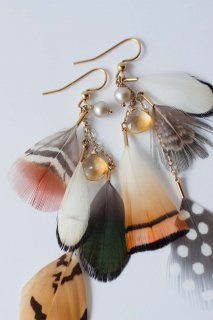 Feather earrings S