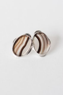 Graphical stud earrings Agate
