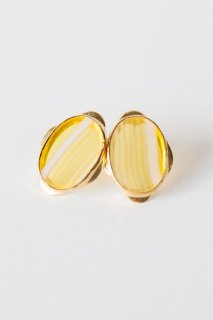 Graphical stud earrings Yellow Agate