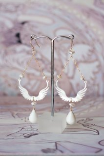 Wing shell earrings