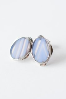 Graphical stud earrings Sky Blue Agate