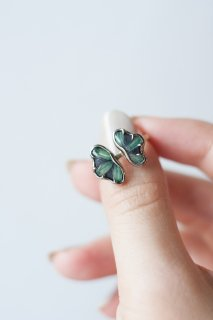 Trapiche Emerald  Butterfly Ring K18