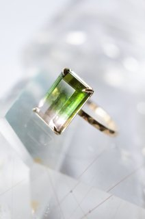 Green Tea Tourmaline Ring