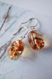 Baltic Flower Amber short earrings