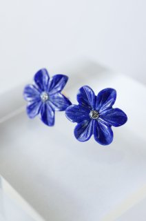 Flower Lapis Lazuri Stud earrings