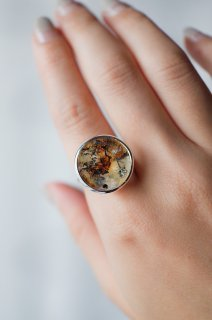 Dendritic Quartz Ring ROUND