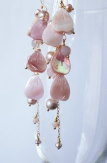 Full bloomed cherry blossoms earrings / gradation